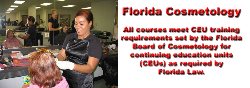 Courses approved by the Florida board of cosmetology.